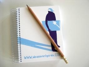 Conjunto de libreta y lápiz personalizado