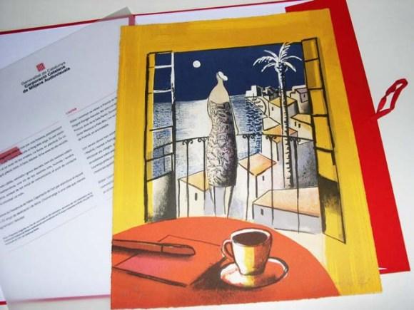 Edición de litografías artística siguiendo el tema especificado por el cliente