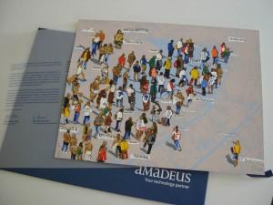Edición limitada de serigrafías artísticas usando papelería corporativa del cliente
