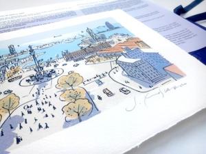 Serigrafía artística por encargo realizada por J.Moscardó