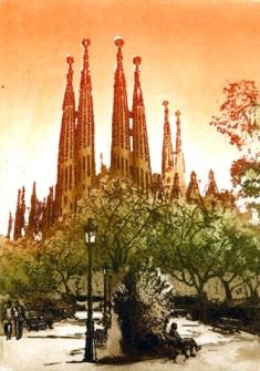 Edición numerada de grabados Sagrada Familia