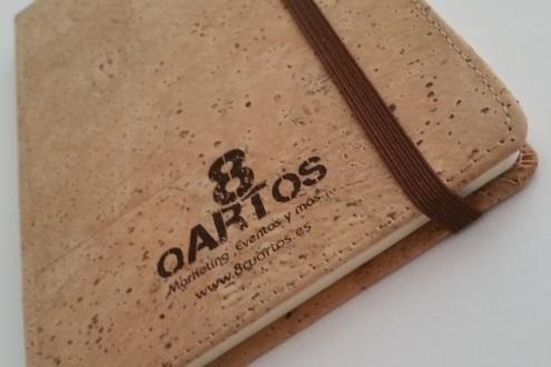 Cuaderno corporativo con tapas recicladas